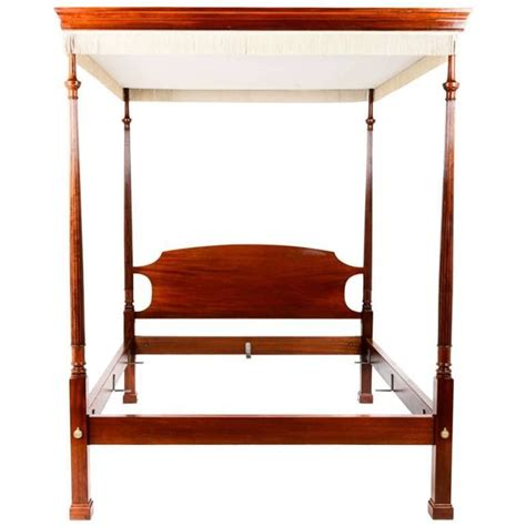 french solid mahogany georgian style canopy bed for sale