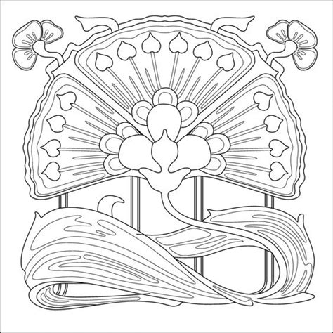 Get This Free Printable Art Deco Patterns Coloring Pages Deco Coloring Pages