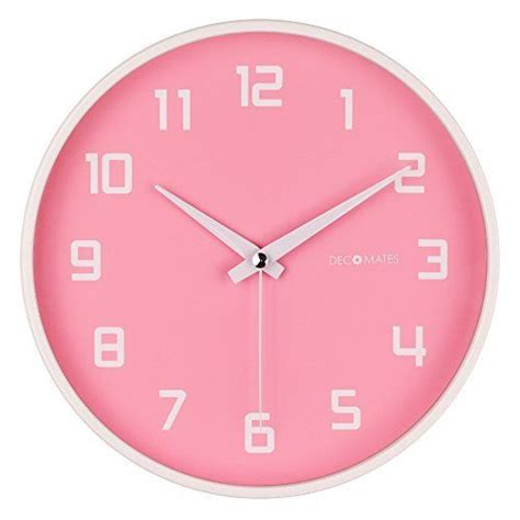 amazon com hippih silent wall clock wood non ticking digital quiet decomates non ticking silent wall clock pink fruity