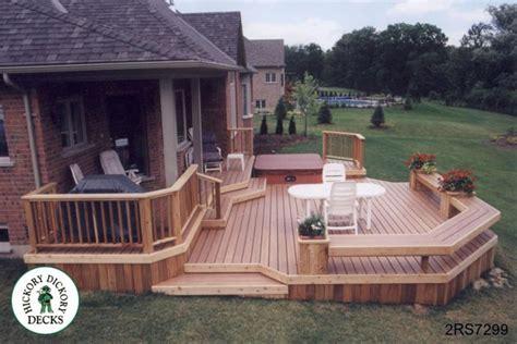 different deck designs 2 level diy deck plans
