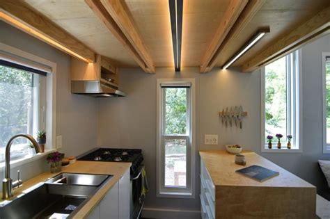 Arranging Kitchen Cabinets by Shed Modern Tiny House On Wheels With Space Saving Interiors