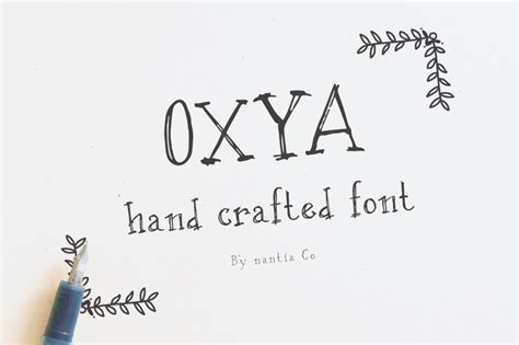 Handcrafted Fonts - oxya crafted font
