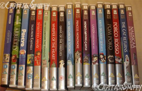 ghibli film numbers my studio ghibli collection 2014 by capitainsmiffy on