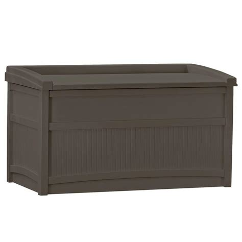 Outdoor Bench With Storage Deck Box Patio Storage Space Outdoor Garden Bench Seat 50 Gallon Resin Container Ebay