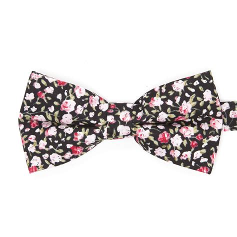 Dha Pink 1 bow tie black pink floral dha 1 touch of modern