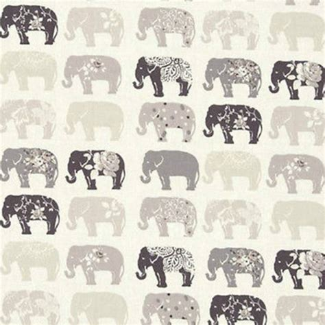 elephant pattern fabric uk clarke clarke studio g elephants curtain fabric natural