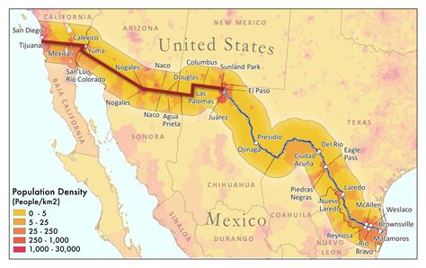 pictures of the mexico border map us mexico border states fig1 11 thempfa org