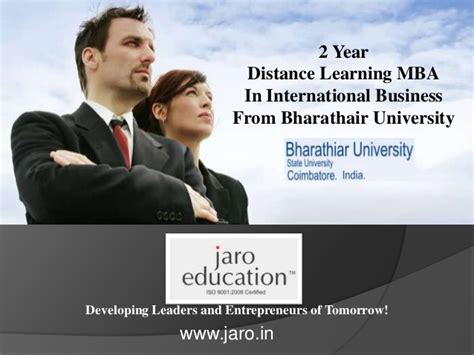 Distance Mba In International Business by Distance Mba In International Business From Bharathiar