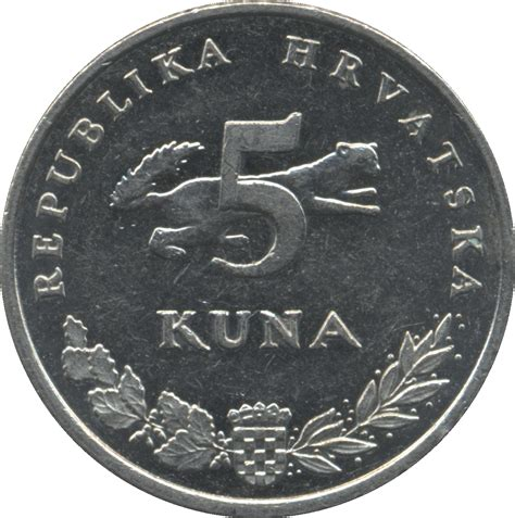cuna values 5 kuna croatian text croatia numista
