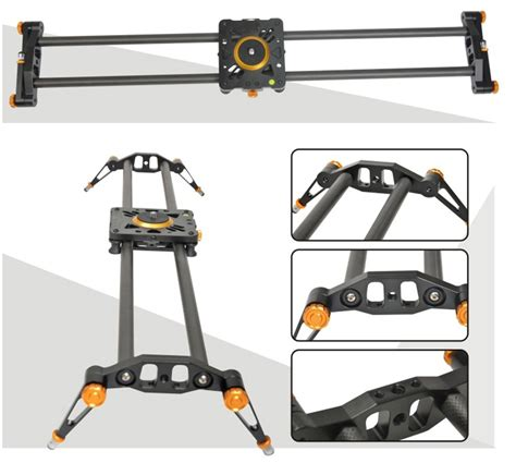 Fotoplus Slider 80cm Carbon Fiber Sc 80 ashanks 80cm 6 bearings carbon fiber slider dslr dv track slide stabilizer rail