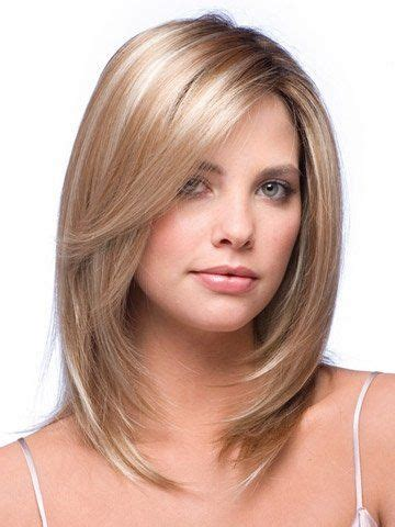 hair length to elongate the face layered medium length hair with face framing layers