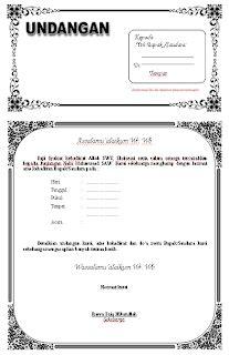 template undangan psd pin of contoh format isi undangan khitanan word psd
