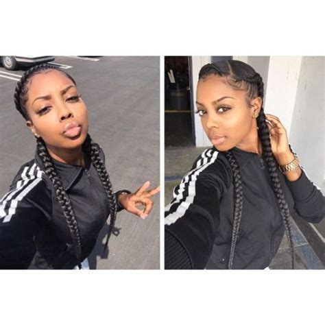 unique two big braids hairstyles with weave big box braids ghana braids ghana braids with updo straight up braids