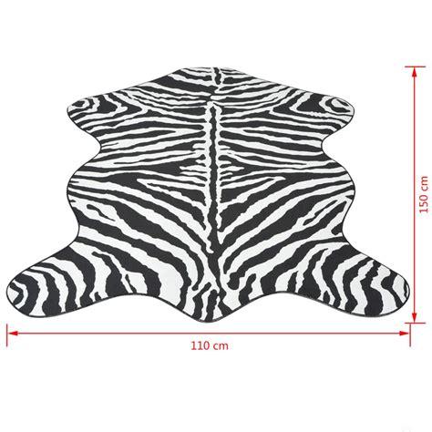 tappeto zebra vidaxl tappeto sagomato 110x150 cm sta a zebra vidaxl it