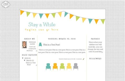 free blogging templates stay awhile template the cutest on the block