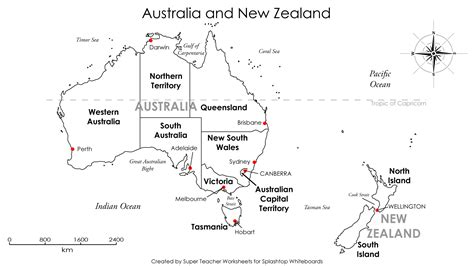 map of australia and nz 18 best images of worksheets united states