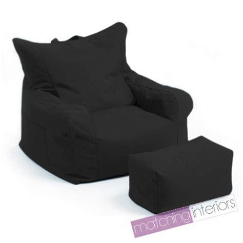 Black Bean Bag Chair Black Budget Bean Bag Chair Foot Stool Gamer Armchair