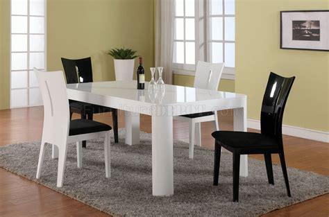black finish modern dining table w optional side chairs white gloss finish modern dining table w optional side chairs