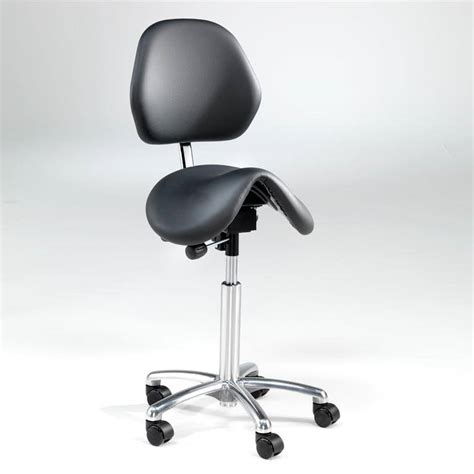Saddle Chair With Backrest by Saddle Stool With Backrest Leather Aj Products