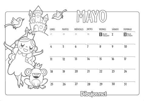 Dibujos Calendario Para Pintar Calendarios Mayo 2015 Con Dibujos Para Pintar Colorear