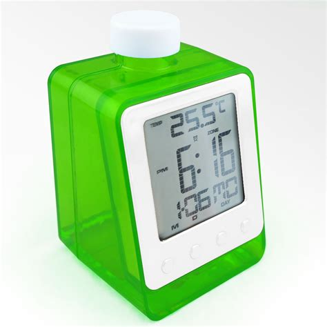 Water Powered Digital Clock With Temperature Function Jam Temperatur water power digital table calendar clock buy water power calendar clock digital table calendar