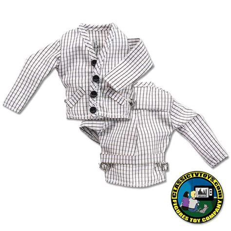 8 inch figure clothes checkered suit jacket for 8 inch figures