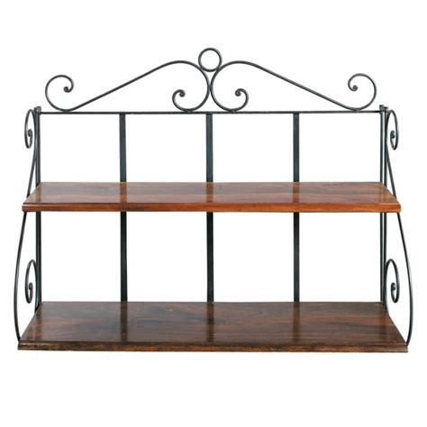 wrought iron wall shelf unit w 100cm lub 233 maisons du