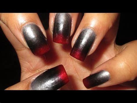 fifty shades of grey nails easy nail art tutorial 50 shades of fifty shades of grey inspired zoya gradent nail art