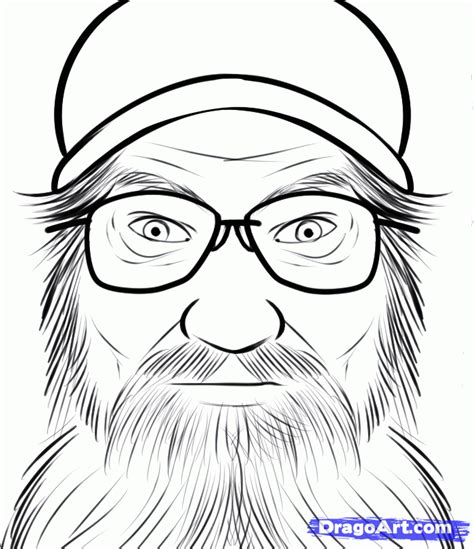 coloring pictures of duck dynasty how to draw si robertson duck dynasty si robertson step
