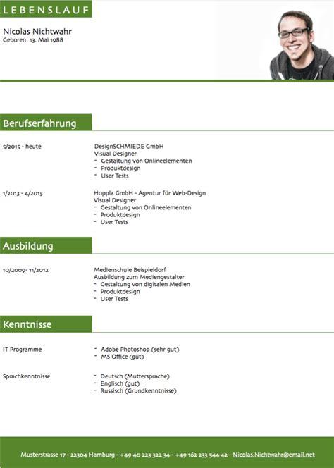 Lebenslauf Deutschland Unterschrift Lebenslauf Muster 3 Gruen Kostenlos Downloaden