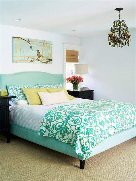 aqua bedroom layering a bed 9 lovely bedrooms the inspired room
