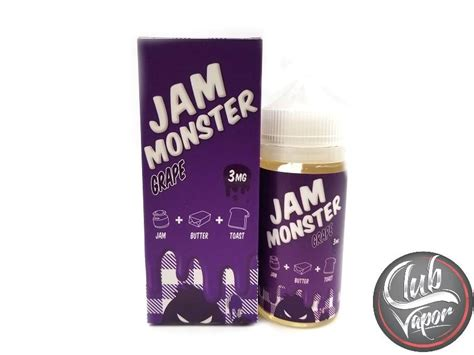 E Liquid Vapor Vape Jam Grape 3mg 100ml 1 grape e liquid by jam liquids 100ml