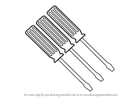 How To Draw Screwdriver