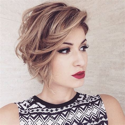 hairstyles short bob 2016 messy bob haircut for hear face shape short hairstyles