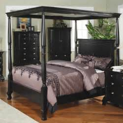Canopy Brand Bedroom Furniture Canopy Bed In Black By Winners Only Home