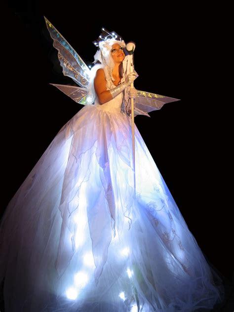 Light Up Fairies White Stilt Walkers Stiltwalker Stilt Walkers Stilt Performers