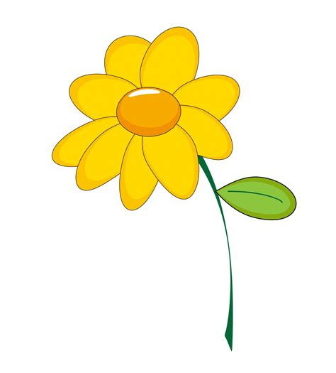 clip fiori yellow flower clipart free stock photo domain