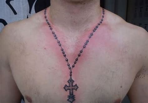 cross necklace tattoo 40 necklace tattoos ideas