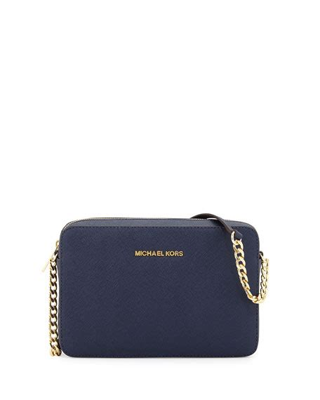 Michael Kors Jet Set Navy michael michael kors jet set travel large crossbody bag navy