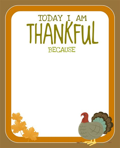 i am thankful for template prek card printable free thanksgiving printable creative juice