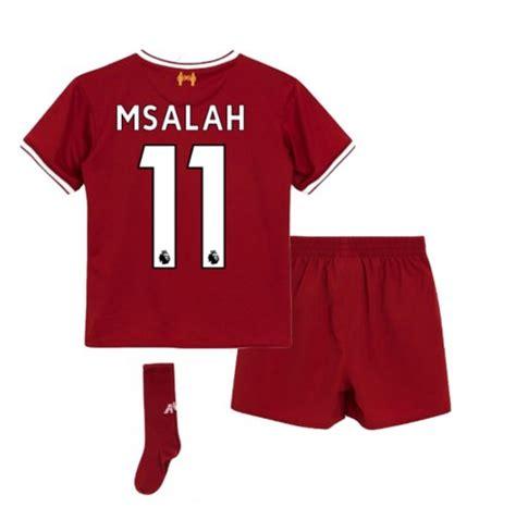 M Salah Liverpool 2017 2018 Home Away Third Style Nameset equipaci 243 n de f 250 tbol para ni 241 o liverpool fc 2017 2018 home m salah 11 por s 243 lo 79 49 en