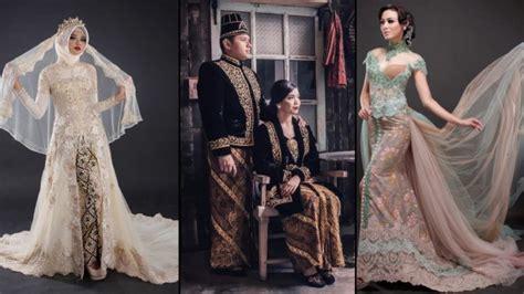 Gamis Muslimah 340 28 model baju kebaya pengantin modern 2018