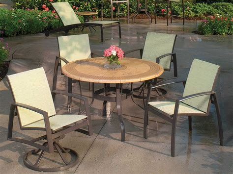 Suncoast Cortez Natural Stone 48 Round Dining Table   TOPS