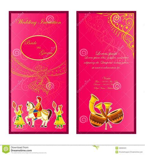 Wedding Invitation Card Flash by Indian Wedding Invitation Card Stock Vector Image 48582023