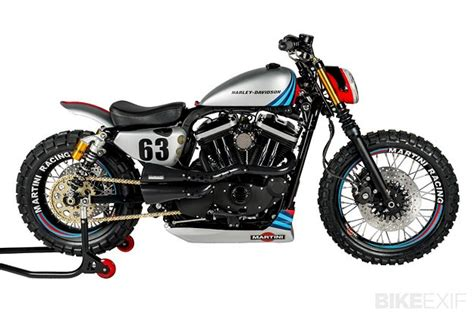 martini livery motorcycle harley xl883r by shaw speed custom gear x