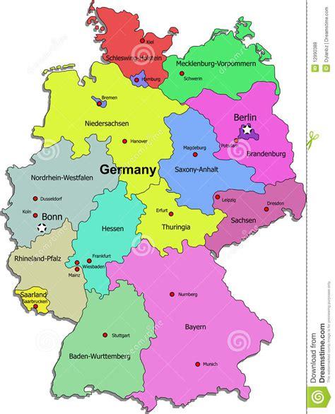 germany regions map germany regions map