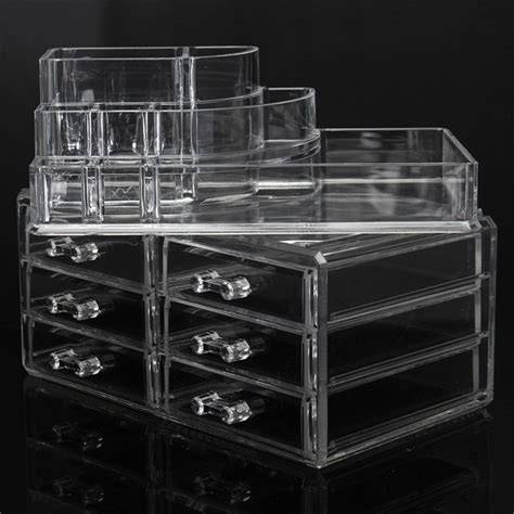 2 drawer acrylic organizer 6 drawer clear acrylic make up organizer drawers cosmetic