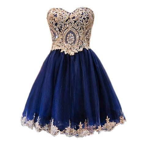 Dress Sweet Blue aliexpress buy sparkly a line sweet 16 dresses lace navy blue homecoming dresses