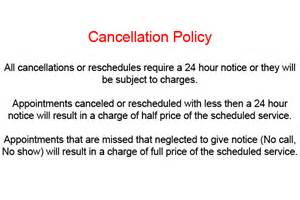 cancellation policy template bringing it all together with moh tips and intimate