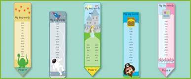 phase 4 tricky words bookmarks free early years